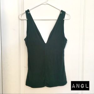 ANGL DARK GREEN TANK TOP